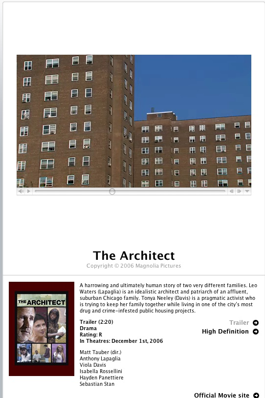 The Architect- ein kritischer Film?
