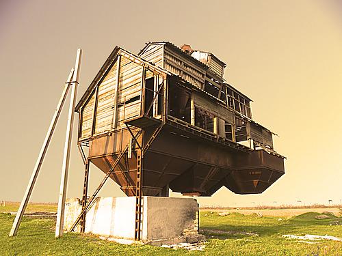 schwebendes Haus