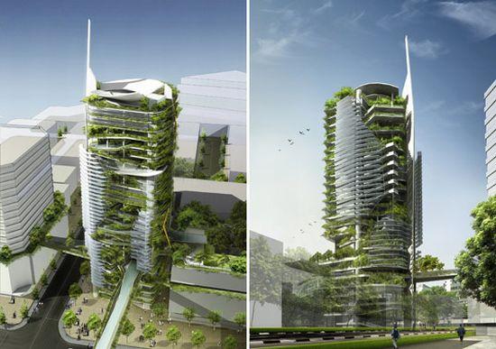 Gruener Turm fuer mehr Biodiversitaet