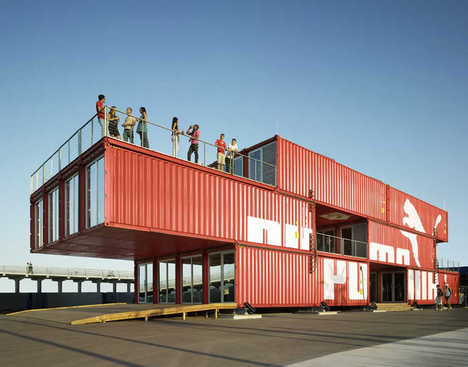 container in rot