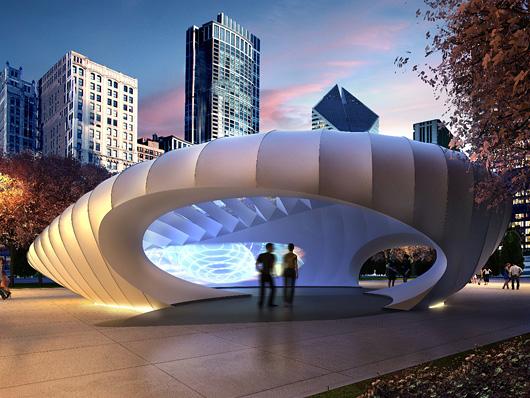 burnham pavillons im Millenium Parc, Chicago