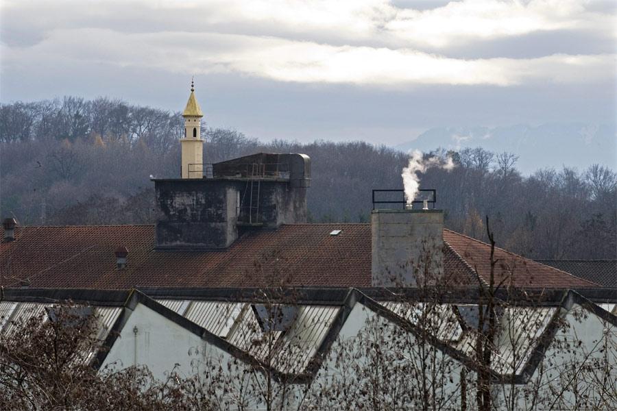 Minarett als Schwarzbau