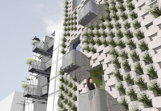 Pflanztrogfassade