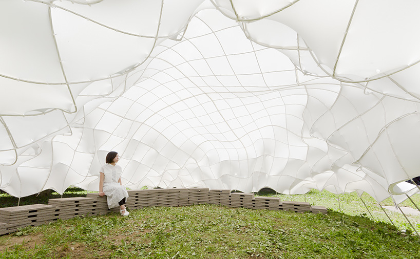 weaving carbon fiber pavilion – T_ADS